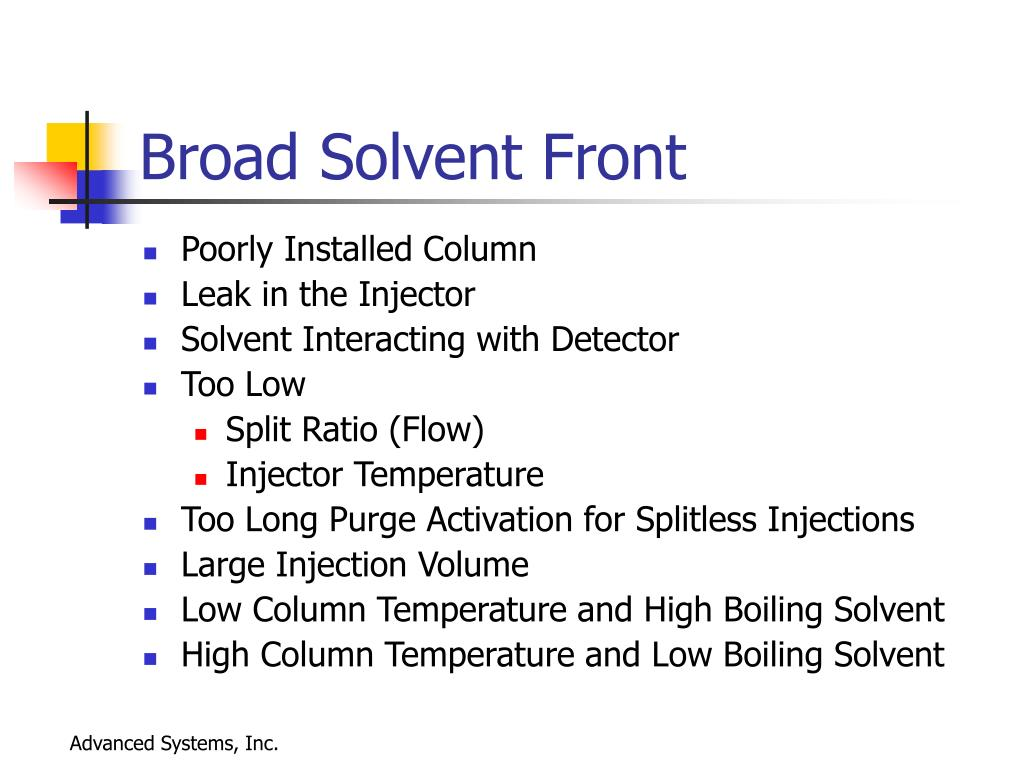 Broad Solvent Front