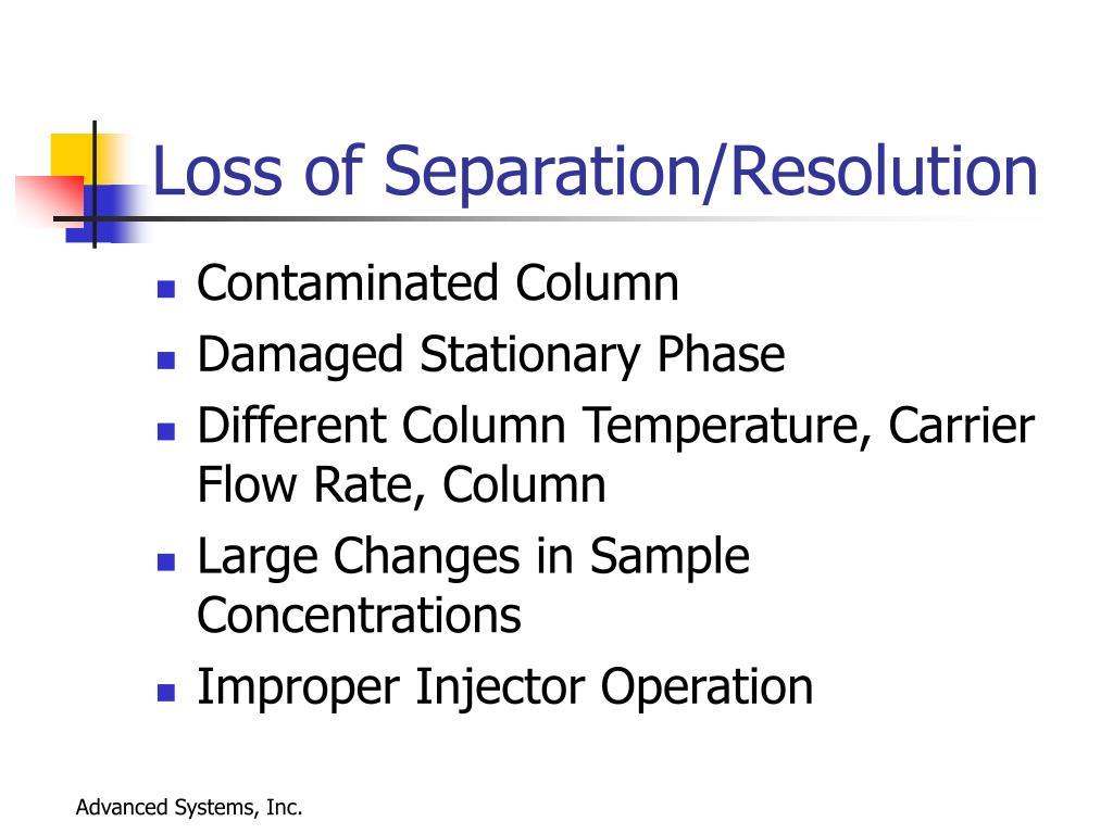 Loss of Separation/Resolution