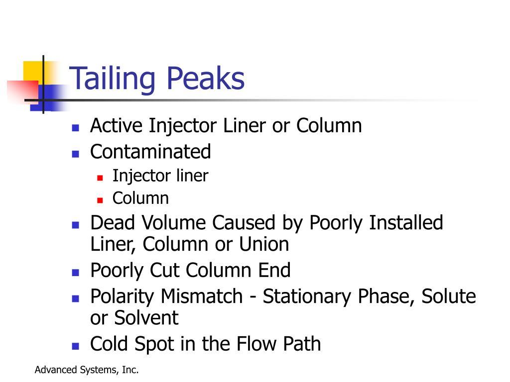 Tailing Peaks