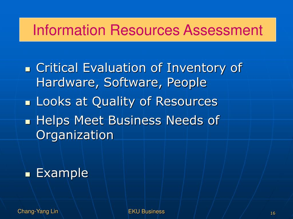 Information Resources Assessment