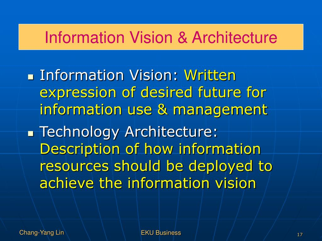 Information Vision & Architecture