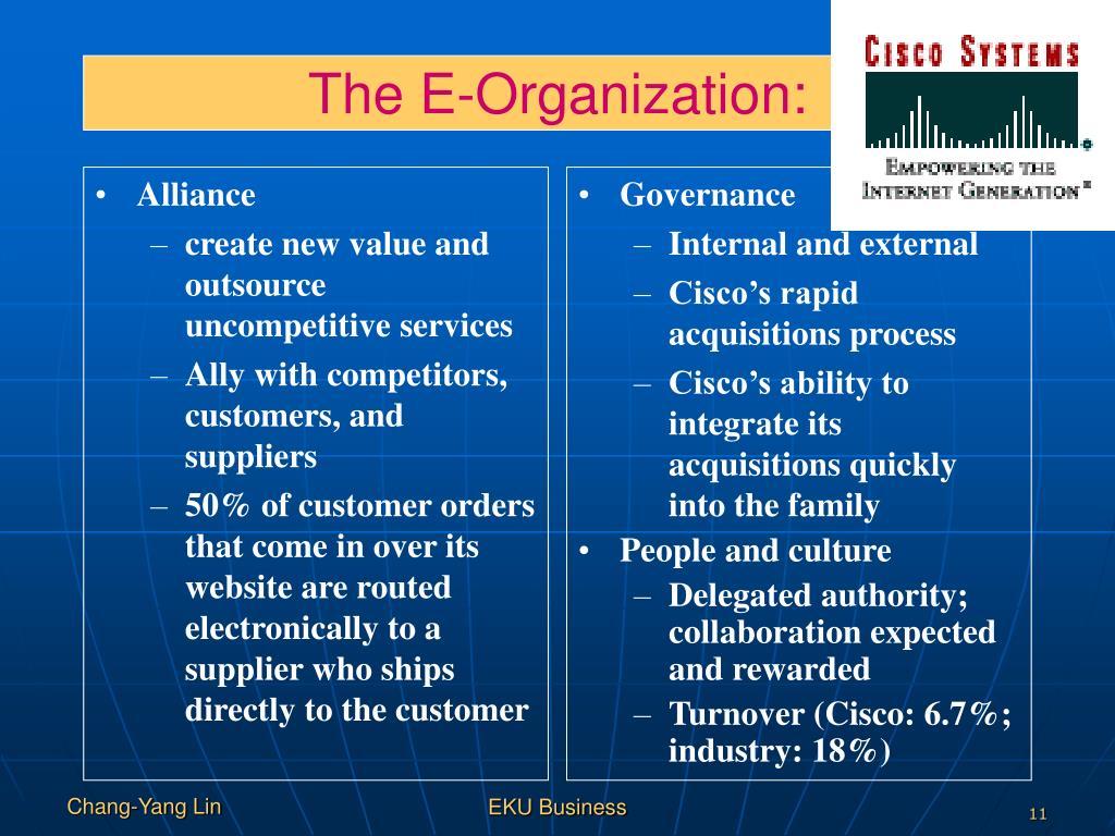 The E-Organization:
