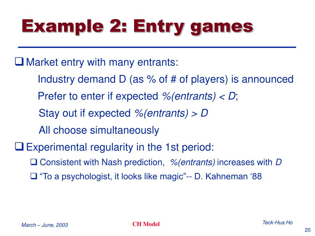 Example 2: Entry games
