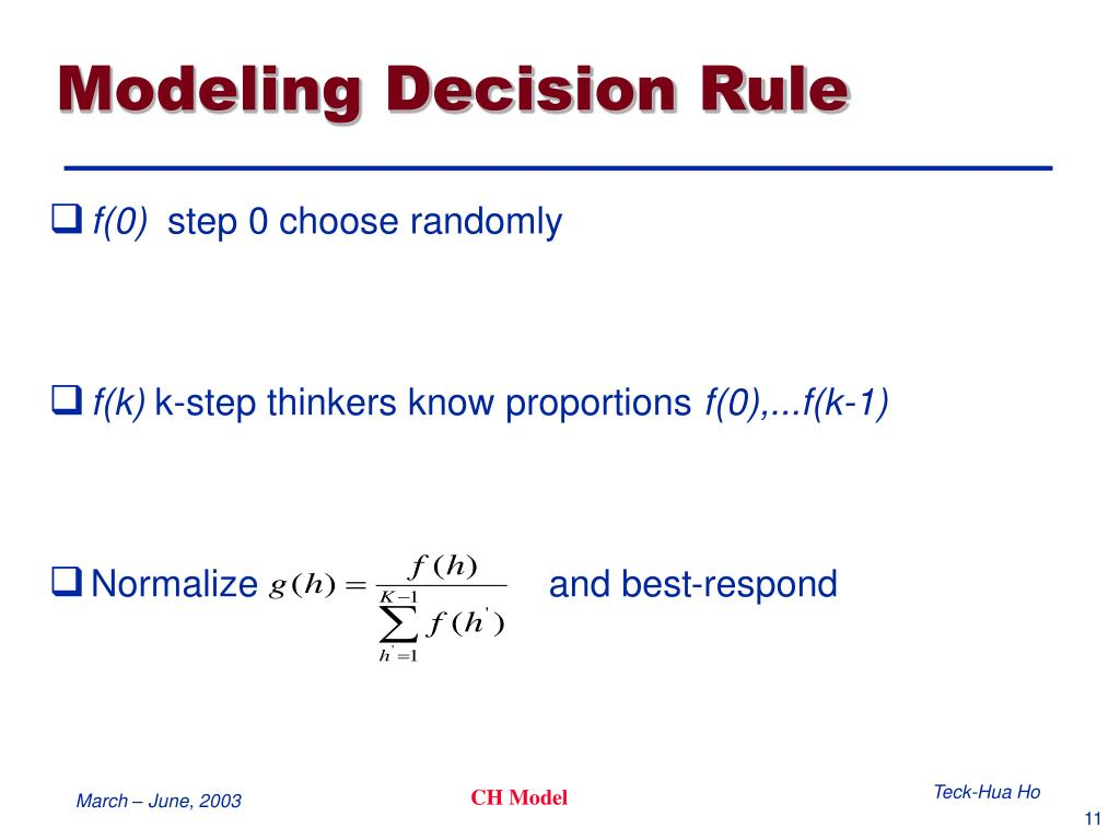 Modeling Decision Rule