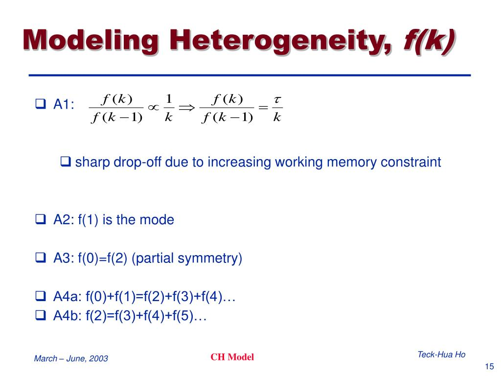 Modeling Heterogeneity,