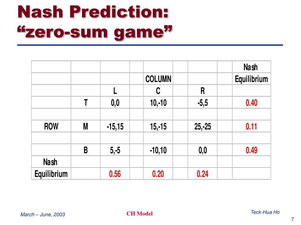 Nash Prediction:
