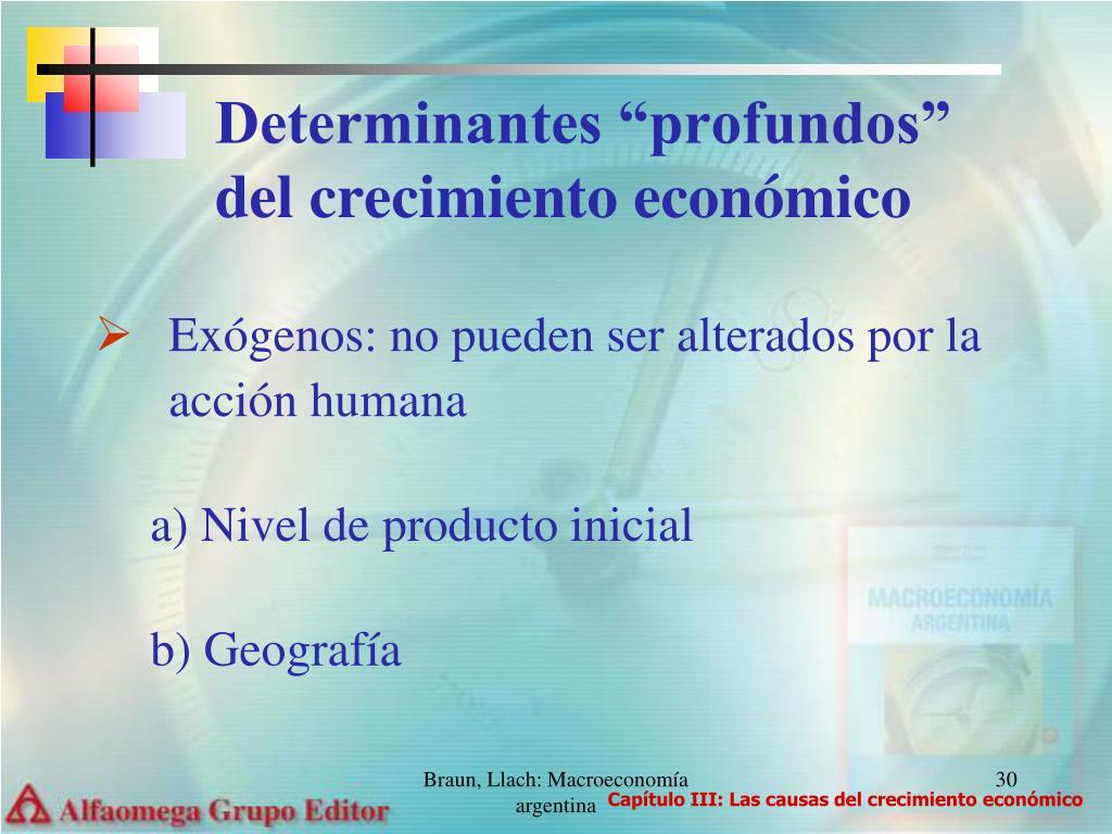 """Determinantes """"profundos"""" del crecimiento económico"""