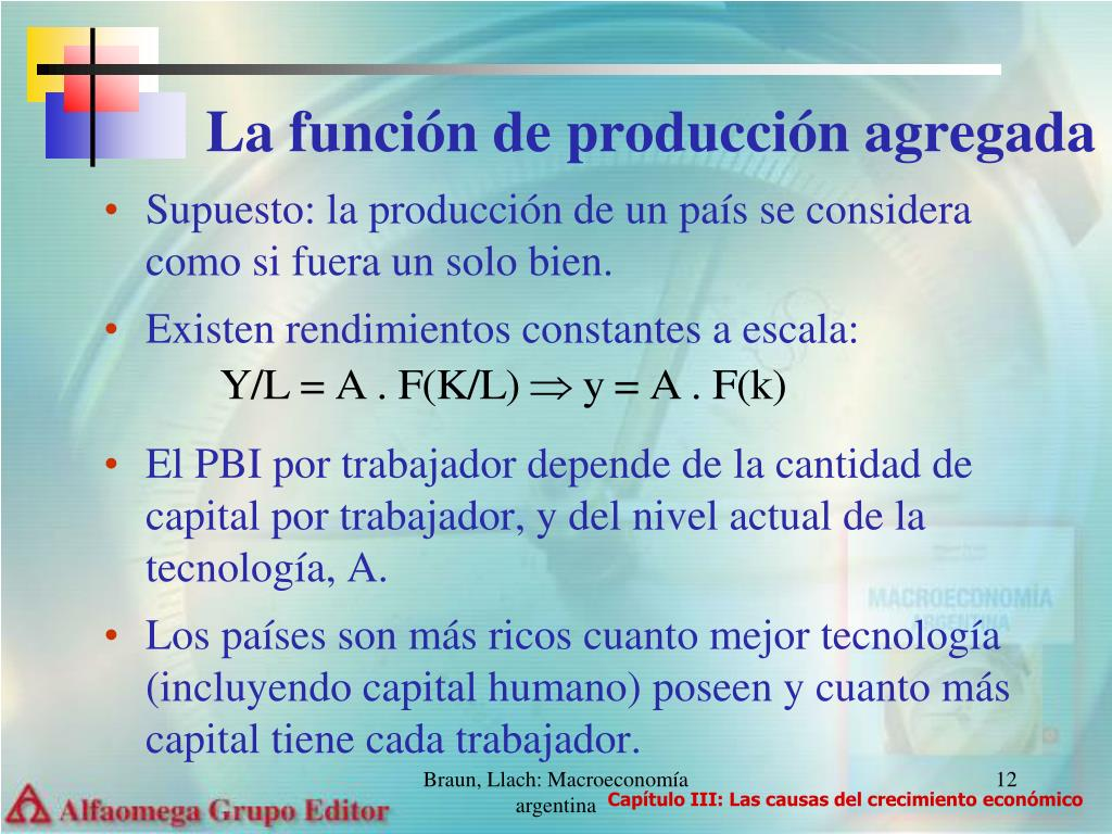 La función de producción agregada