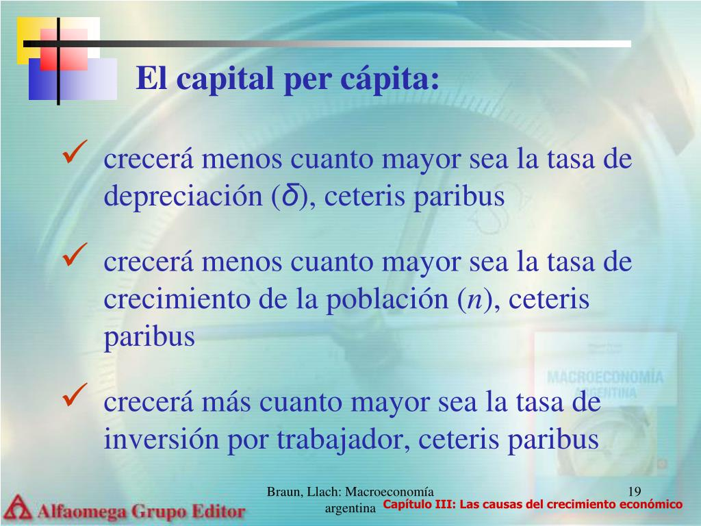 El capital per cápita: