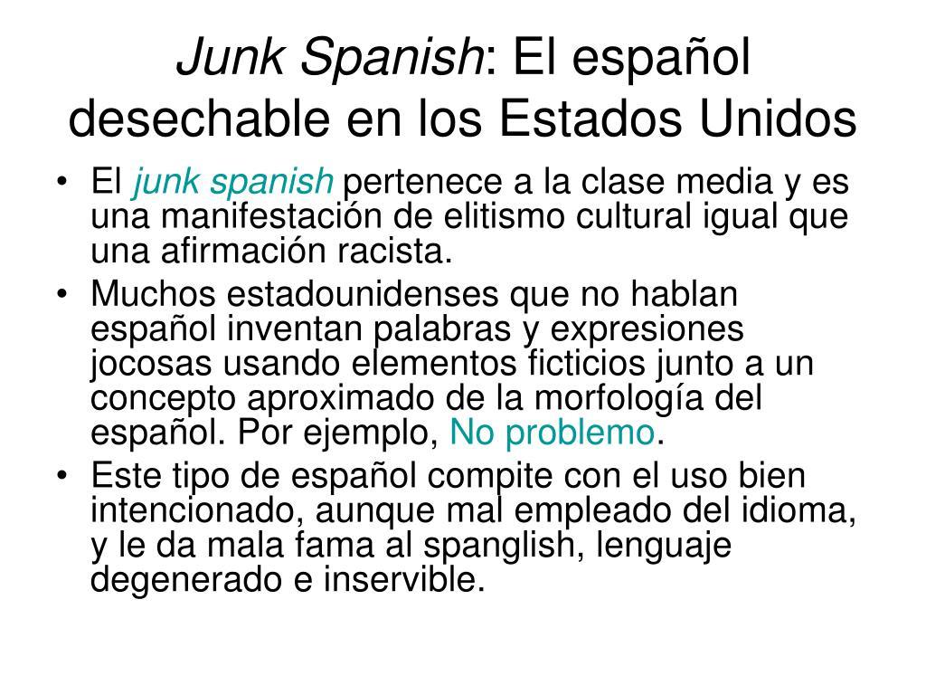 Junk Spanish