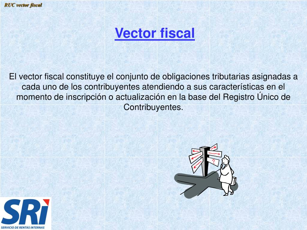 RUC vector fiscal