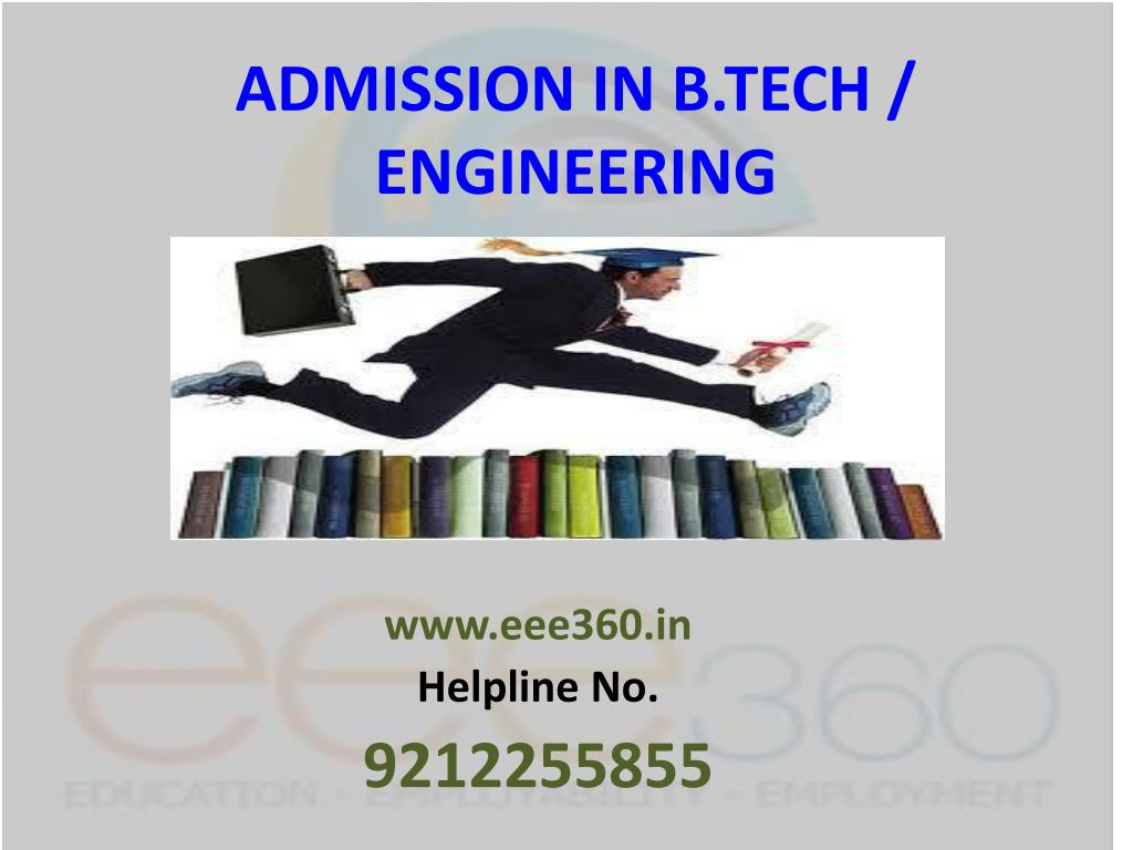 admission in b tech engineering
