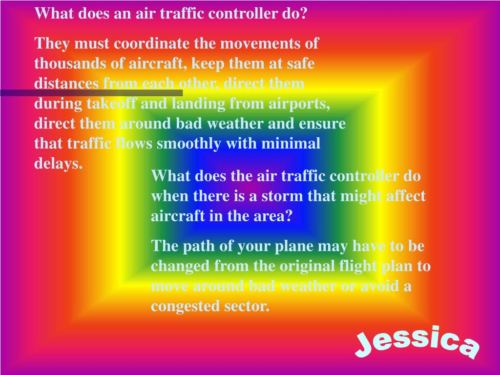 What does an air traffic controller do?