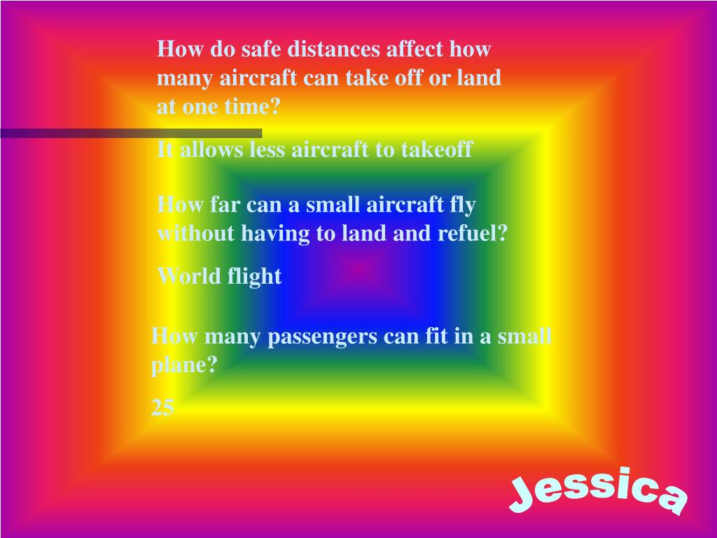 How do safe distances affect how many aircraft can take off or land at one time?