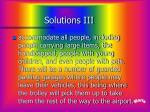 solutions iii
