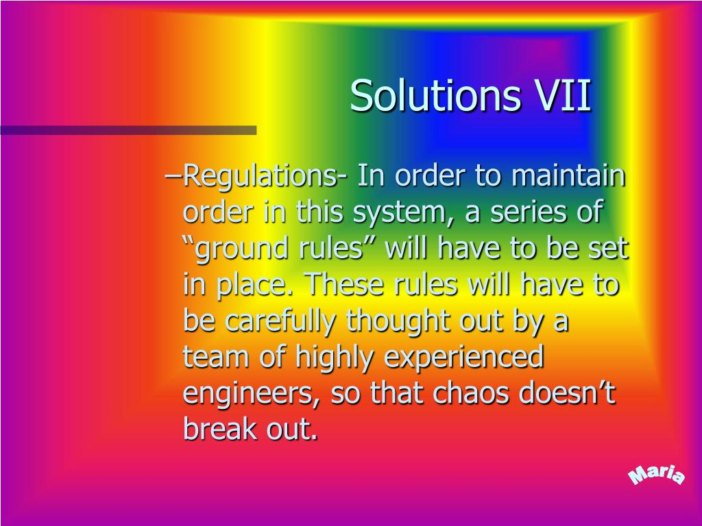 Solutions VII