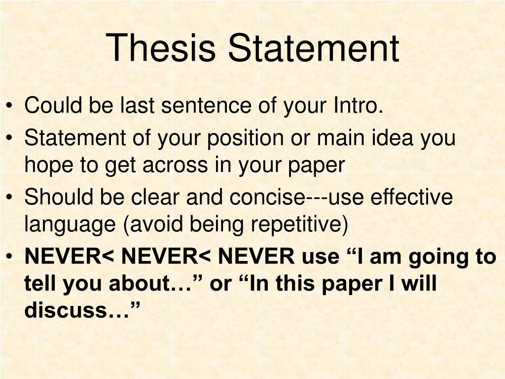 where to write the thesis statement in the introduction Thesis and purpose statements emerge as you think and write about a topic the statement can be restricted or clarified and eventually worked into an introduction.