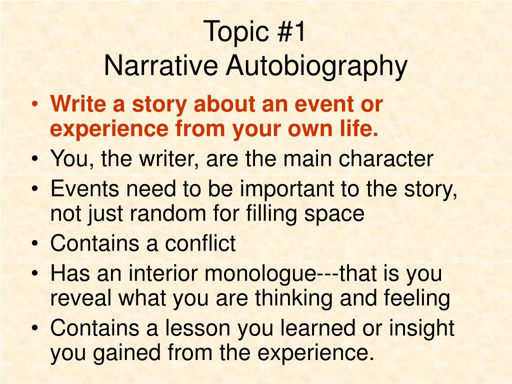 Autobiography Narrative Essay