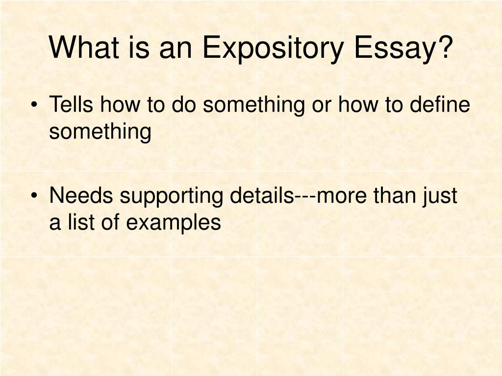 college expository essay An expository essay is just an umbrella term which brings in all the five types of essays mentioned above read this blog and gather your knowledge.