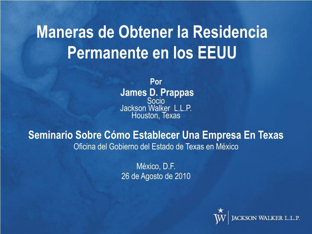 Maneras de Obtener la Residencia Permanente en los EEUU