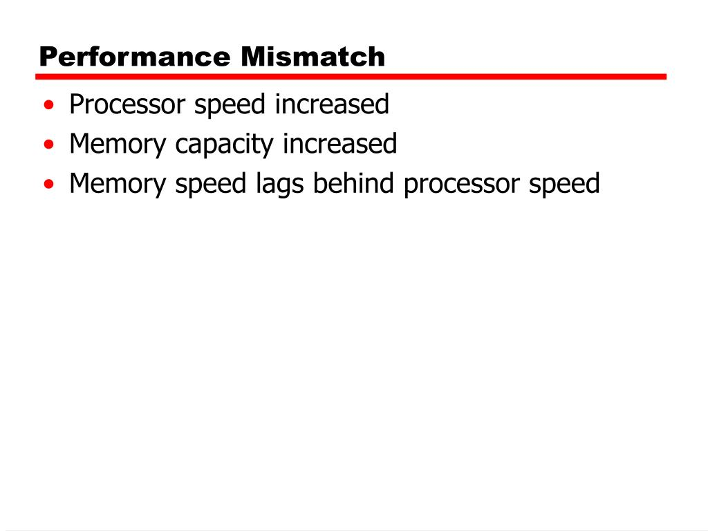 Performance Mismatch