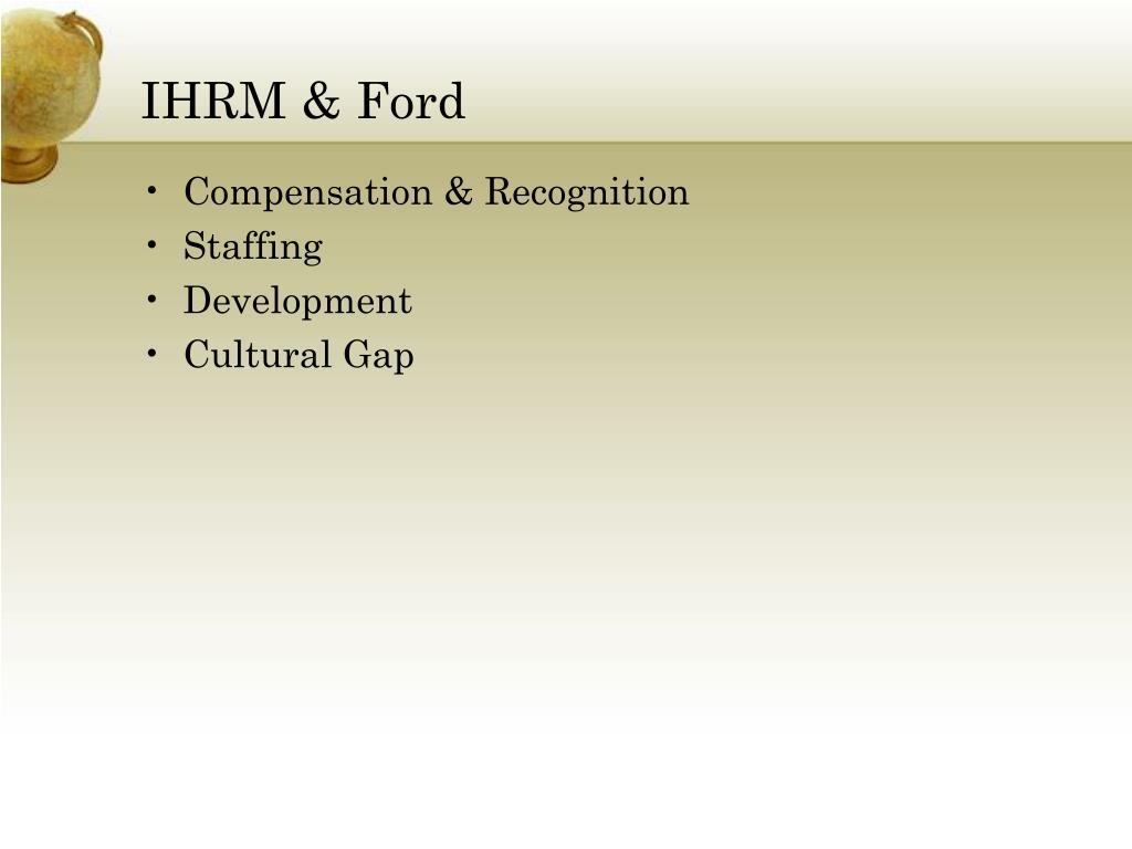 IHRM & Ford