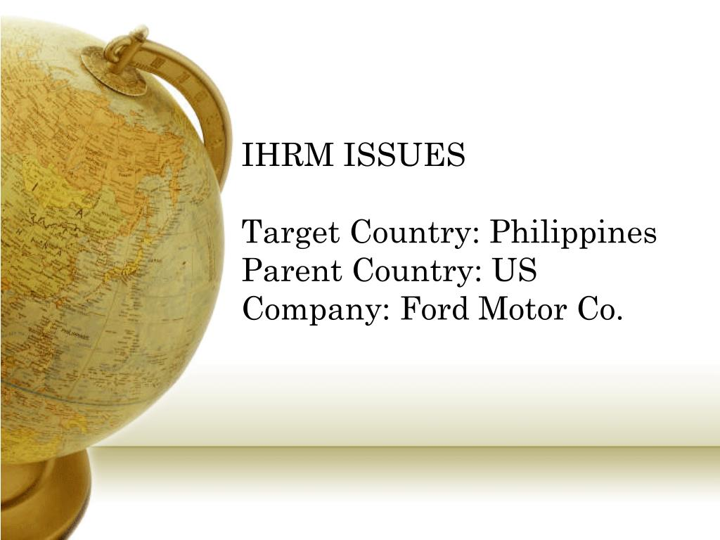 IHRM ISSUES