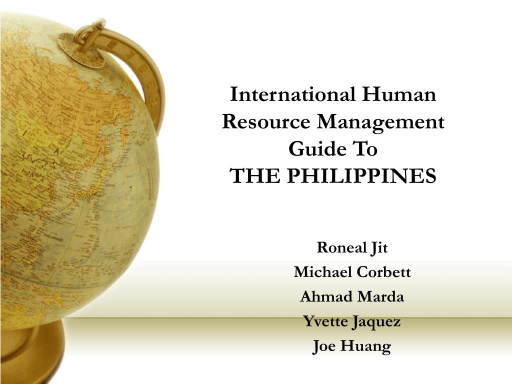 International Human Resource Management  Guide To