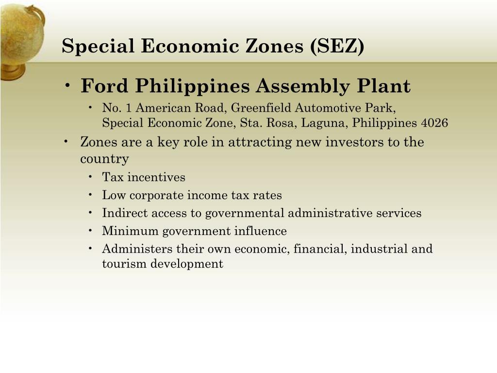 Special Economic Zones (SEZ)