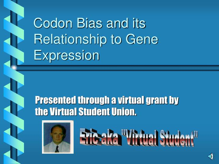 Codon bias and its relationship to gene expression l.jpg