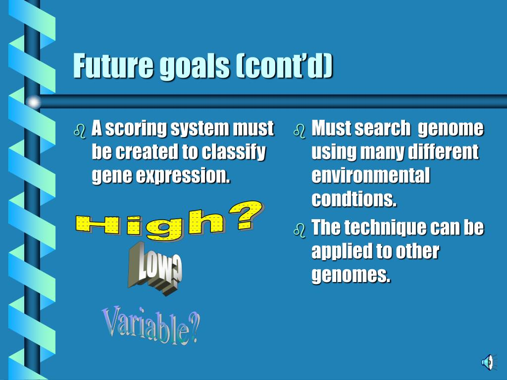 A scoring system must be created to classify gene expression.