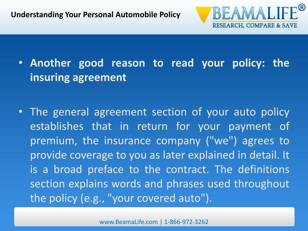 Understanding Your Personal Automobile Policy