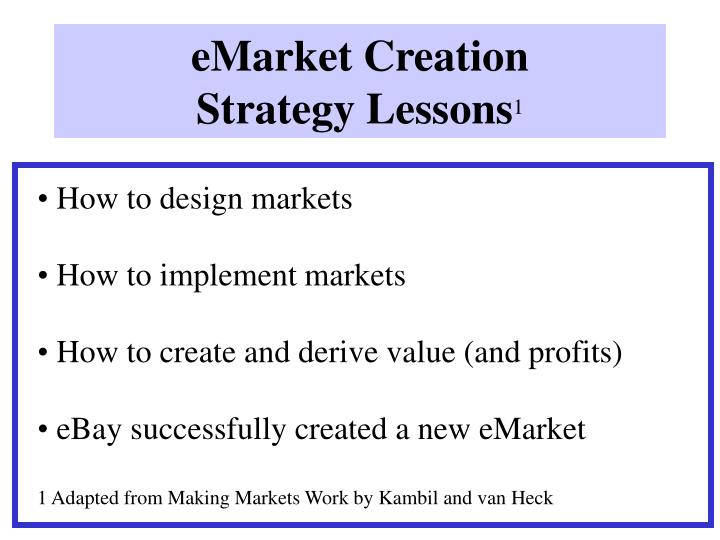 Emarket creation strategy lessons 1 l.jpg