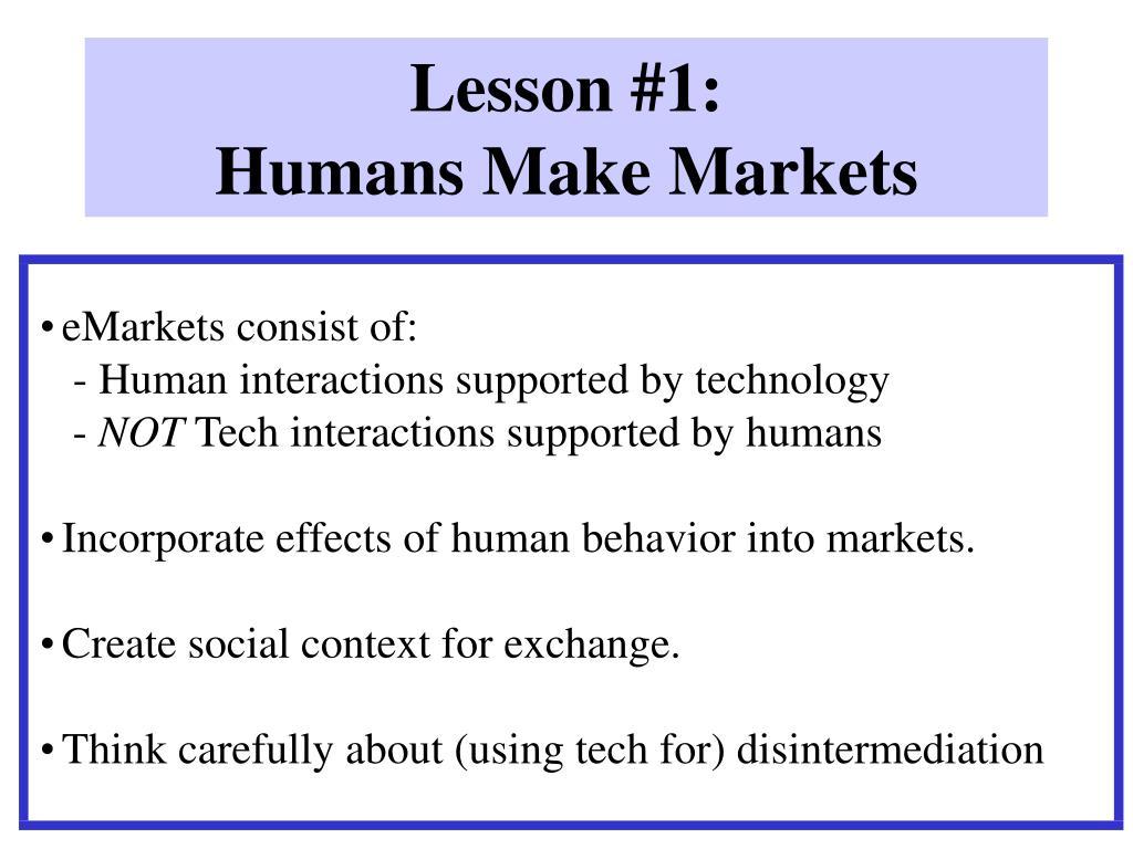 Lesson #1: