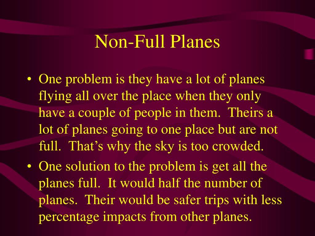 Non-Full Planes