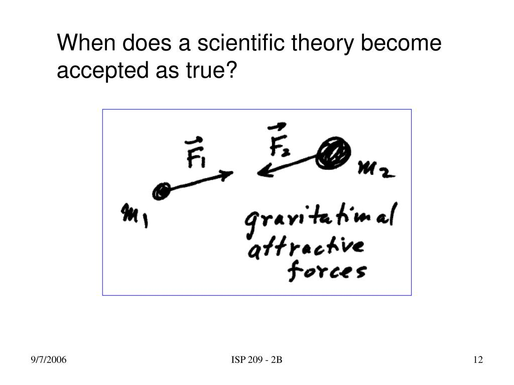 When does a scientific theory become accepted as true?