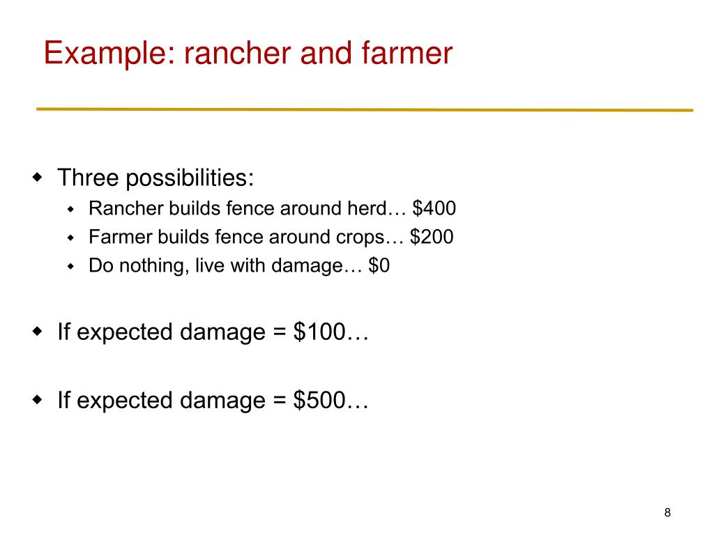 Example: rancher and farmer