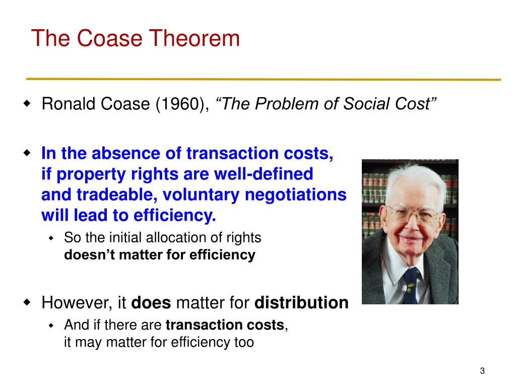 The Coase Theorem