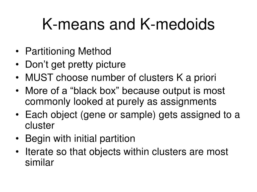 K-means and K-medoids