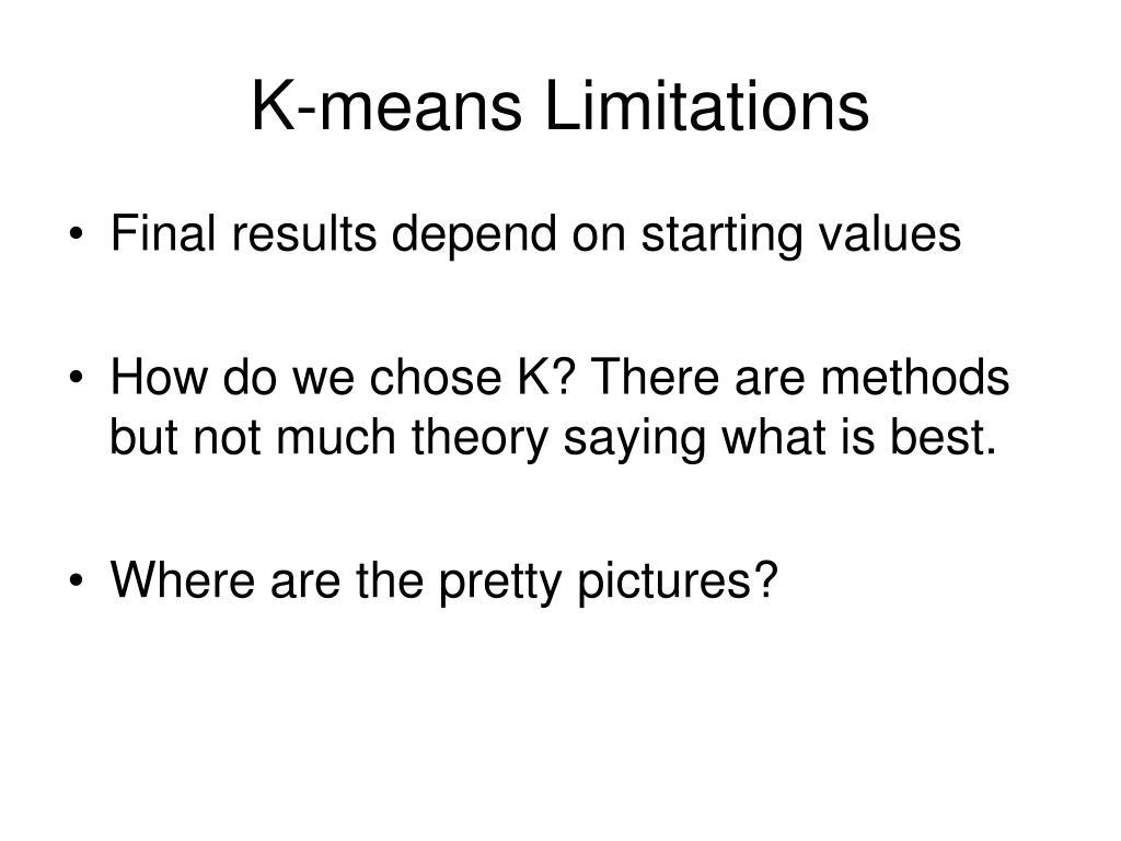 K-means Limitations