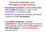economic implications from principle of large numbers