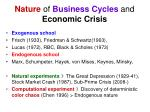 nature of business cycles and economic crisis