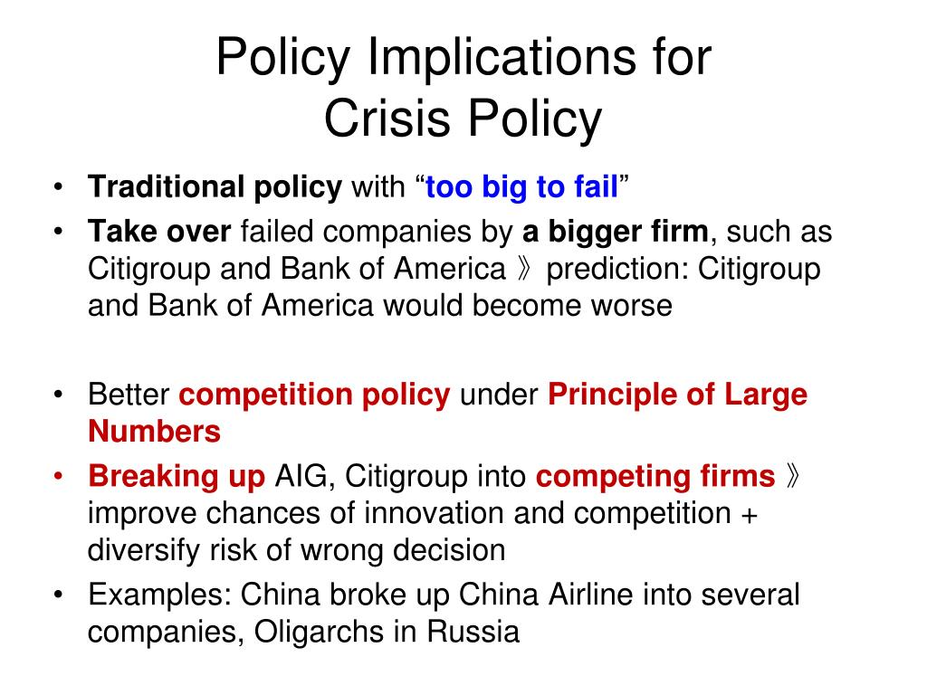 Policy Implications for