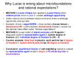 why lucas is wrong about microfoundations and rational expectations