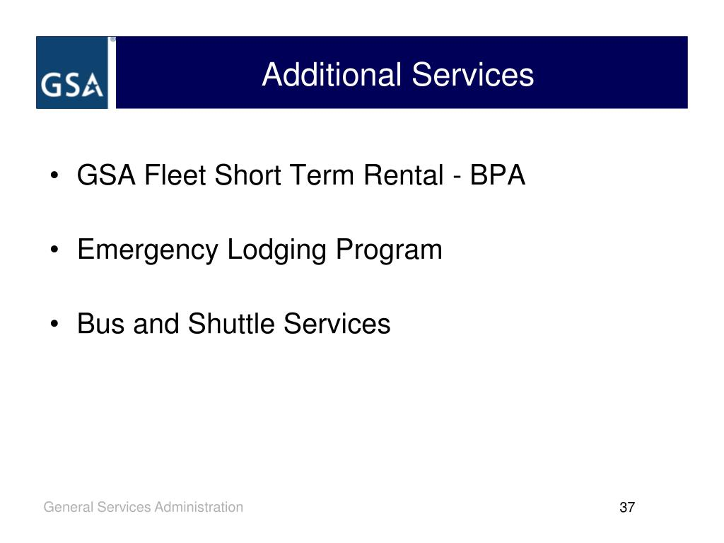GSA Fleet Short Term Rental - BPA