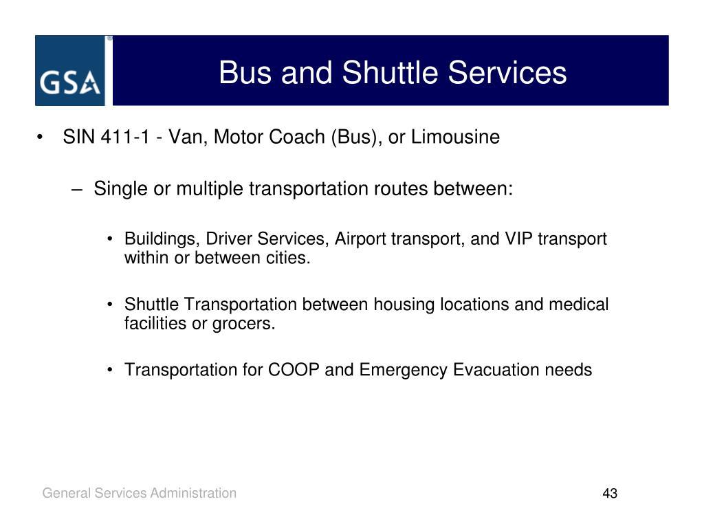 SIN 411-1 - Van, Motor Coach (Bus), or Limousine
