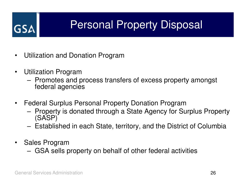 Personal Property Disposal