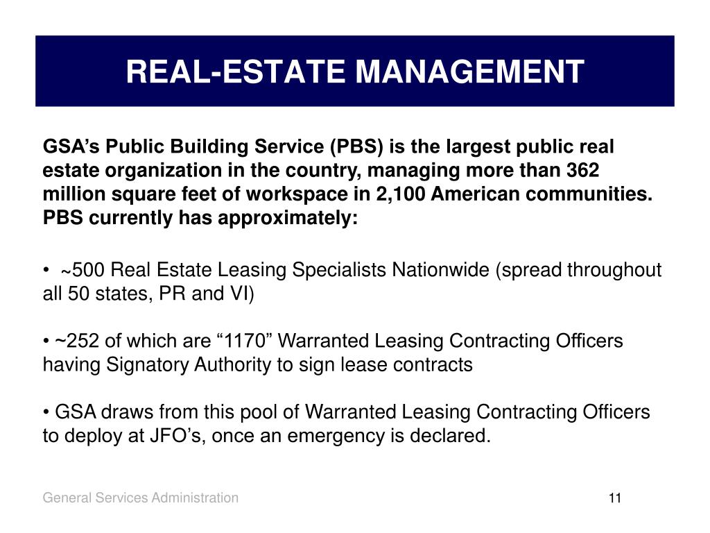 REAL-ESTATE MANAGEMENT