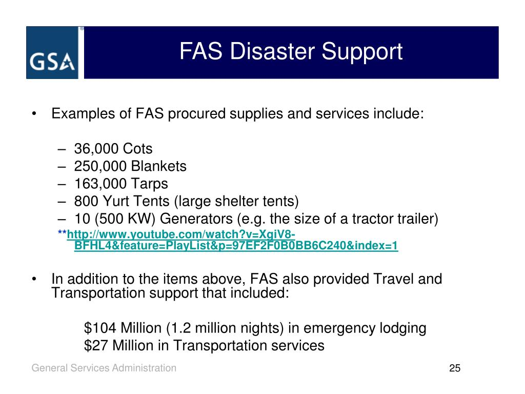 FAS Disaster Support