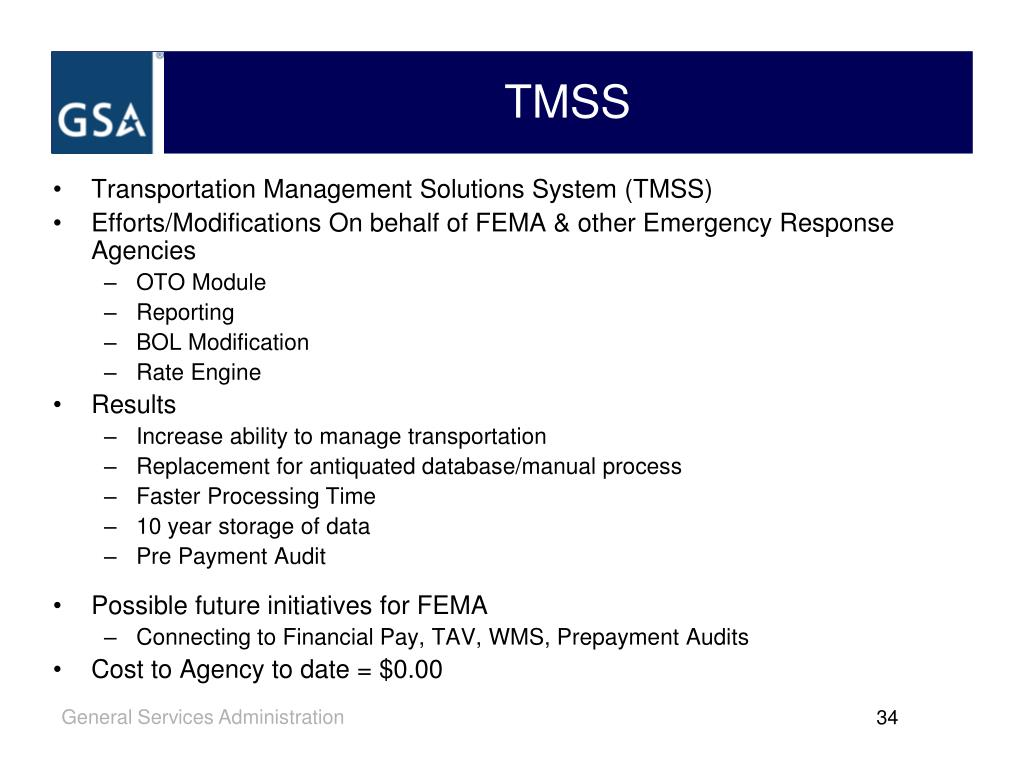 Transportation Management Solutions System (TMSS)